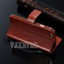 Genuine Real Leather Flip Wallet Case Cover for Apple iPhone Models
