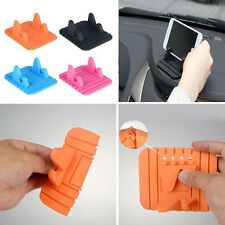 New Silicone Car Anti-Slip Mat Holder Bracket Desktop Stand For Moible Phone GPS