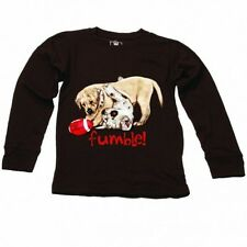 NWT Wes & Willy Chocolate Brown Boys Fumble Puppies Tee Size 6 Months
