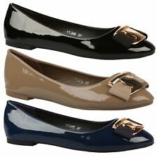 Penelope Womens Low Heels Flats Padded Sole Ladies Ballerinas Dolly Shoes Size