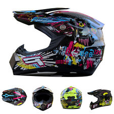 Best Full Face Hlemet +Goggles+Gloves IN945 For Motorcycle Motocross Race Sports