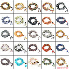 108 Prayer Beads Stretchy Multifunctional Bracelet Necklace Natural Stone 6mm
