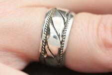 Handmade Solid Sterling Silver .925 Bali Style Small Band Ring. Sz. 5.5,6.5,7