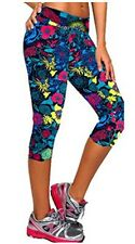 Women Print Summer Style Capris Leggins Pants Thin And Soft Mid Calf Legging