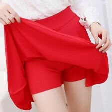 Women Skirt Shorts Plus Size Candy Colors Pleated Skirts Prevent