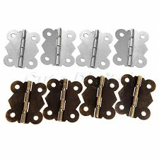 1/10Pcs Iron Butterfly Hinges Cabinet Drawer Door Wood Box with Screws Wholesale