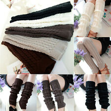Womens Handmade Winter Knit Crochet Knitted Leg Warmer Legging Boot Cover 1 pair