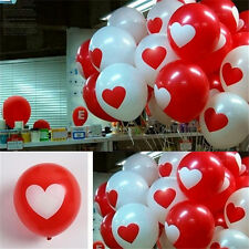 12x Heart Printed Latex Balloons Home Room Wedding Party Birthday Decoration TO