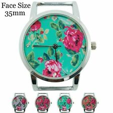 New Ladies Solid Bar Floral Beading Fashion Quartz Watch Face 35mm