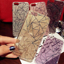 Sparkling Bling Glitter Crystal TPU Hard Back Case Cover for iPhone 7 6 6S Plus