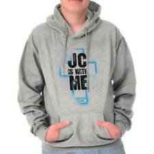 JC Is With Me Christian T Shirts Jesus Christ Novelty Gift Hoodie Sweatshirt
