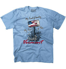 My Country Town Vermont USA T Shirt American Flag Vintage Gift T-Shirt Tee