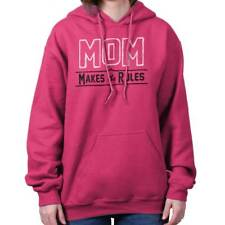 Mother's Day Mom Makes The Rules Cute Funny Humor Gift Ideas Hoodie Sweatshirt