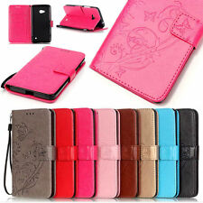 Card Holder Leather Flip Wallet Case Cover Stand Floral For HTC NOKIA Motorola