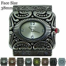 Ladies 5 Hole Multi Strand Beading Square Shaped Fashion Watch Face 38mm