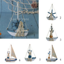 Wooden Craft Ship Model DIY Sailing Boat Table Display Nautical Decor Party Gift