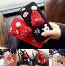 Fashion Cute Red Cap Christmas Following Gift Cover For iPhone 7 7 Plus Case