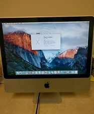 "Apple iMac 20"" 2.4GHz Intel Core 2 Duo 4GB Ram 250GB HD 10.11.3 El Capitan A1224"