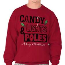 Candy Lights Poles Naughty Christmas Funny Shirts Gift Ideas Sweatshirt