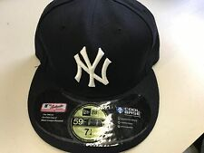 NWT NEW YORK YANKEES RETRO ONFIELD NEW ERA WHITE BUTTON FLAT BRIM FITTED HAT