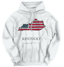 Kentucky State Pride American Flag USA Patriotic Gift Ideas Hoodie Sweatshirt