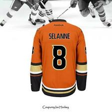 Teemu Selanne 8# Anaheim Ducks Orange Hockey Jersey All Size Selanne Hockey