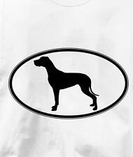 Great Dane Oval Profile Dog T Shirt All Sizes & Colors