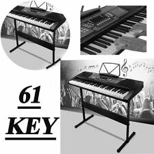61 Key Music Electronic Keyboard Electric Digital Piano Organ + Stand UB