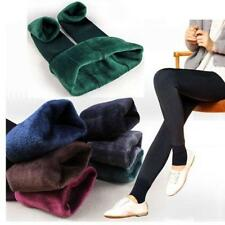 Womens Soft Fleece Lined Winter Warm Thick Leggings Stretchy Long Trousers Pants