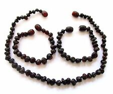 Genuine Baltic amber necklace or bracelet anklet for child, cherry baroque beads