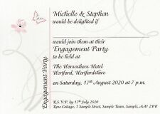 10 Personalised Engagement Invitations £3.40 (inc Env's - MANY COLOURS) *LE*