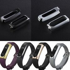 Metal Stainless Protective Case Holder Band Strap For Xiaomi Mi Band 2 Wristband