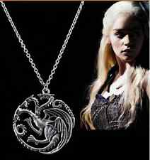 Game Of Thrones Targaryen Dragon Badge Necklace Song of Ice and Fire