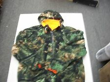 Hunt Fish Trail Crest Highland Timber Camo Fleece Hoodie Jacket  Mens size large