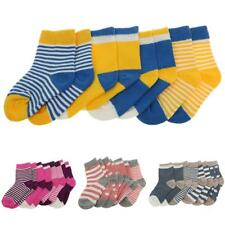 4Pair Baby Toddler Boy Girls Kids Cotton Socks Stripe Polka Dot Hosiery 0-3Y