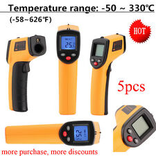 1/2 X Temperature Gun Non-contact Infrared IR Laser Digital Thermometer SM
