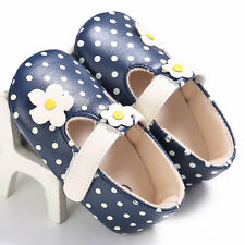 Children Baby Polka Dot Flower Soft Sole Toddler Princess Shoes Girls Sandals BE