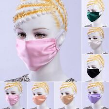 100% Mulberry Silk Charmeuse Anti Dust Mouth Masks