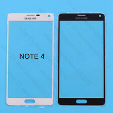 White/Black Front Touch Screen Outer Glass Lens For Samsung Galaxy Note 4 N9100