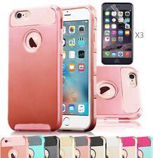Hybrid Rugged Rubber Hard Cover Case Skin for Apple iPhone 5s 6s 4.7 Plus + Film
