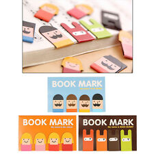Mini Page Labels Clip Magnetic Bookmarks Cartoon Note Memo Stationery Book Mark