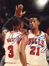 PROOF! DWYANE WADE JIMMY BUTLER Duel Signed Autographed 8x10 Photo Chicago Bulls
