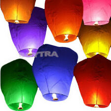 9 Colors Chinese Paper Sky Flying Wishing Lantern Lamp Candle Party Wedding CE