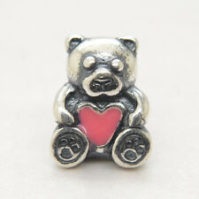 Authentic Genuine S925 Sterling Silver pink heart European charm bead