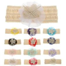 Baby Girls Kids Lace Flower Bowknot Headbands Hair Band Headwear Accessories
