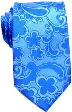 New Boardroom 100% Silk Tie Neckties Solid Blue or Black Paisley - Retail $45