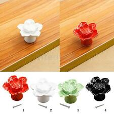 Ceramic Pull Door Handles LOTUS Cabinet Knobs Drawer Wardrobe Closet Hardware