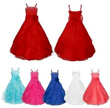 Pageant Flower Girl Kids Birthday Wedding Bridesmaid Gown Formal Dresses US!