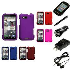 For Motorola Defy MB525 Rigid Plastic Hard Snap-On Case Phone Cover Headphones