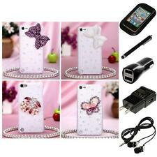 For Apple iPod Touch 5th 6th Gen Diamond Bling Rhinestone Case Cover Headphones
